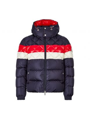 Moncler Jacket Janvry 41934 85 54155 764 Navy / Red / Cream