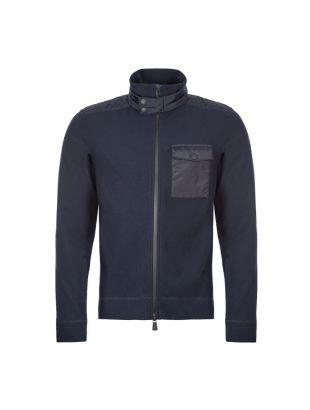 Zipped Fleece Cardigan - Navy