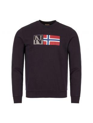 napapijri sweatshirt benoos NOY16U 176 blue marine