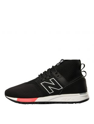 New Balance 247 Mid Trainers in Black MRL247OF
