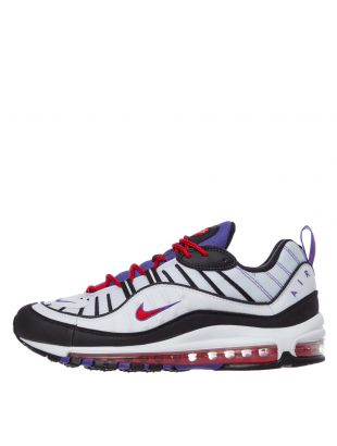 nike air max 98 trainers 640744 110 white / psychic purple