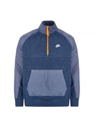 Half Zip Fleece Jacket - Navy