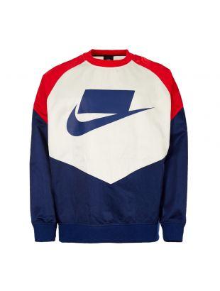 nike sweatshirt AR1642 492 red / white / blue
