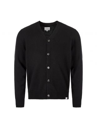 Norse Projects Cardigan Adam Lambswool N45 0395 9999 Black