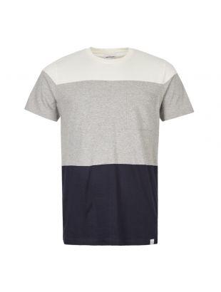Norse Projects T-Shirt Niels Colour Block N01 0447 1026 Light Grey Melange