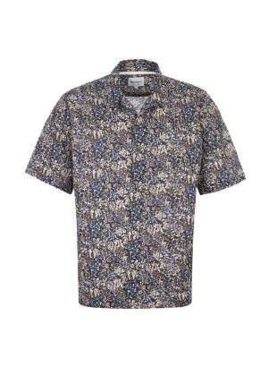 Norse Projects Short Sleeve Shirt | N40 0500 8098 Ivy Green / Navy