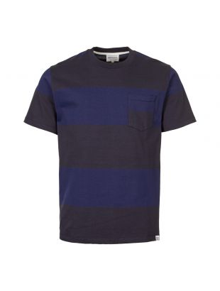 norse projects t-shirt N01 0429 7004 navy