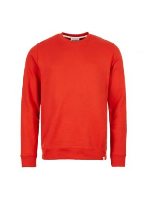 norse projects sweatshirt N20 0261 7521 red