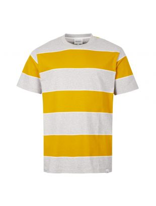 Norse Projects T-Shirt Johannes 3 Stripe N01 0467 3039 Yellow / Grey