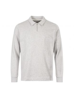 Norse Projects Jorn Half Zip Sweatshirt N10|0164|1026 In Grey At Aphrodite Clothing