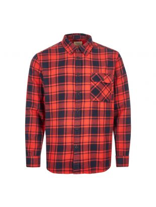 Nudie Jeans Flannel Shirt 140615 In Red and Navy At Aphrodite Clothing