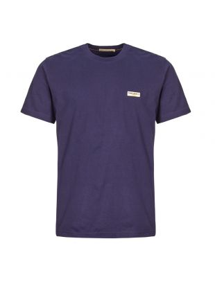 Nudie Jeans Daniel Logo T-Shirt | 131613 MIDNIGHT Midnight
