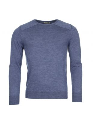 Oliver Spencer Blade Crewneck OSMK527 WES01BLU In Blue