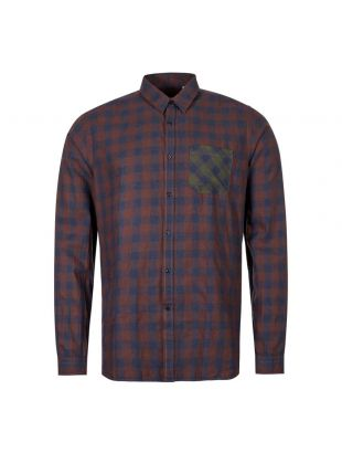 Oliver Sepencer New York Special Shirt OSM200E|CAM01|BRO In Brown And Blue Check At Aphrodite1994