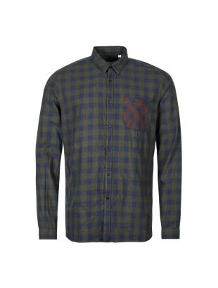 Oliver Spencer New York Special Shirt OSMS200E|CAM01|GRN In Green And Blue Check At Aphrodite1994