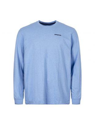 Patagonia Long Sleeve T-Shirt P6 Logo 39161 WIBL Wilder Blue