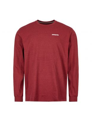 Patagonia Long Sleeve T-Shirt P6 Logo 39161 OXDR Oxide Red