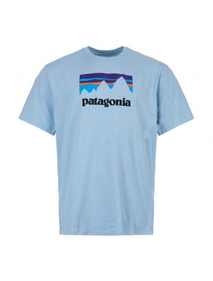 patagonia t-shirt shop sticker responsibili 39175 BUPB break up blue