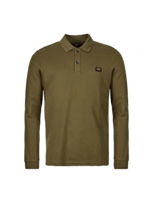 Paul & Shark Long Sleeve Polo Shirt | COP1001 132 Olive