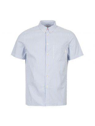 Paul Smith Short Sleeve Shirt M2R 417R B20211 42 Blue / White