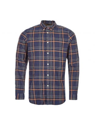Paul Smith Shirt M2R|599R|A20661|48 In Navy and Brown Check At Aphrodite Clothing