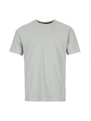 Paul Smith T-Shirt Stripe M2R 541T A20607 02 Ecru / Green / Black
