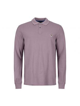 Paul Smith Long Sleeve Polo Shirt   M2R 115LZ C20067 53 Purple