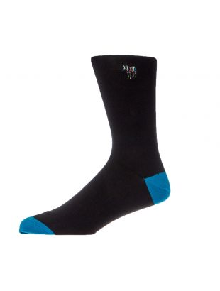 paul smith socks zebra embroidered MIA 380AI AK999 79 black / blue