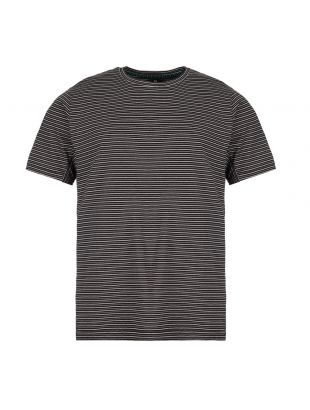 paul smith t-shirt stripe M2R 541T A20607 79 black / white / grey