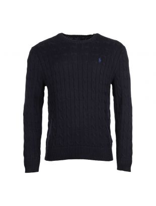 Polo Ralph Lauren Cable Knit Jumper 710702613 002 In Navy