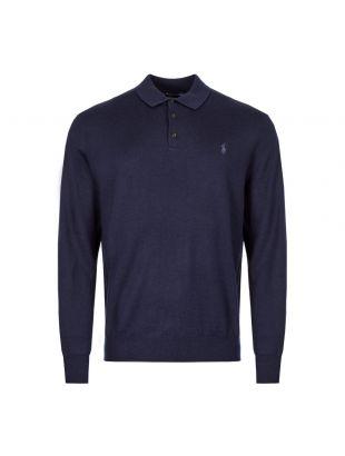 Ralph Lauren Knitted Polo 710716489 001 Navy