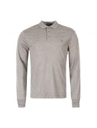 Ralph Lauren Long Sleeve Polo Shirt 710743841 003 In Grey