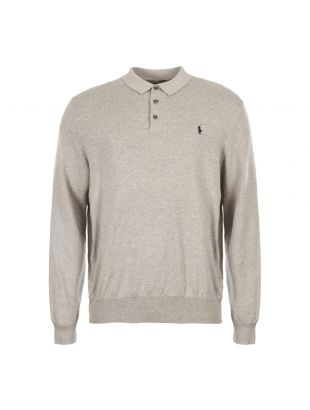 ralph lauren polo shirt long sleeve knitted 710744678 002 grey