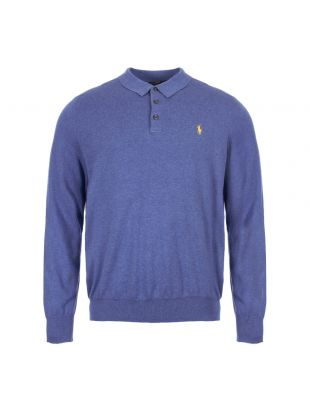 ralph lauren polo shirt long sleeve 710744678 003 blue