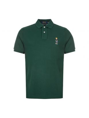 Ralph Lauren Polo Shirt Bear Logo 710766806 003 Dark Green