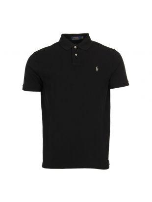 Ralph Lauren Custom Slimfit Polo Shirt 710666998-004 Black