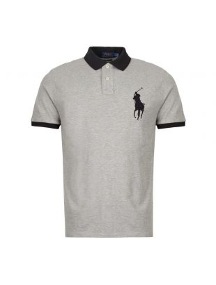 Ralph Lauren Polo Shirt 710752866 004 Grey / Black