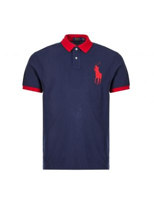 Ralph Lauren Polo Shirt | 710752866 001 Navy / Red