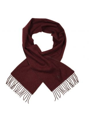 Ralph Lauren Reversible Scarf A67A2326N In Wine