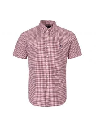 Ralph Lauren Short Sleeve Shirt 710764395 001 Red / White