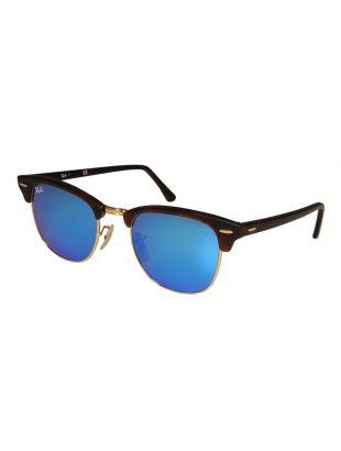 Ray Ban Clubmaster Sunglasses | ORB301611451751 Blue Mirrored / Dark Tortoiseshell