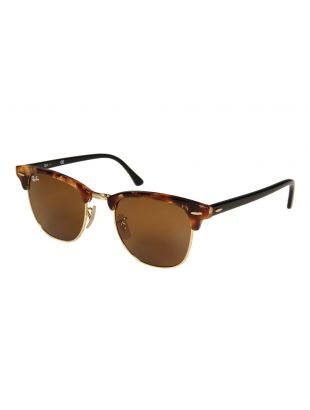 Ray Ban Clubmaster Sunglasses | ORB3016116051 Brown / Tortoise