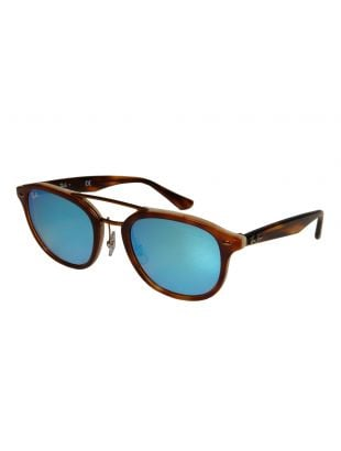 Ray Ban Sunglasses | RB2183 1128B7 Brown / Blue Mirrored