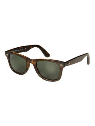 Ray Ban Wayfarer Sunglasses | RB4340 710 50 Havana / Green