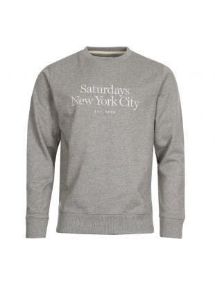 Saturdays NYC Bowery Miller Standard Sweatshirt M41828 BW06 H0800 In Ash Grey Heather