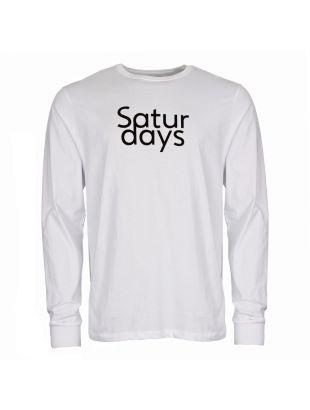 Saturdays NYC Long Sleeve T Shirt M41829 LS01 S9900 White