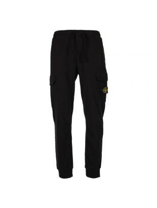 Stone Island, Cargo Sweat Pants Black, 371561120 V0029