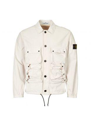 Stone Island Jacket Tela Placcata 701543563 V0097 Ecru