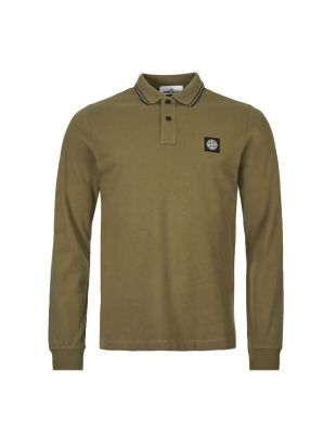 Stone Island Long Sleeve Polo Shirt 71152SS18 V1058 Olive