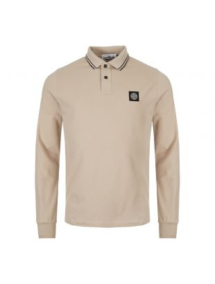 Stone Island Long Sleeve Polo Shirt 71152SS18 V1095 Beige